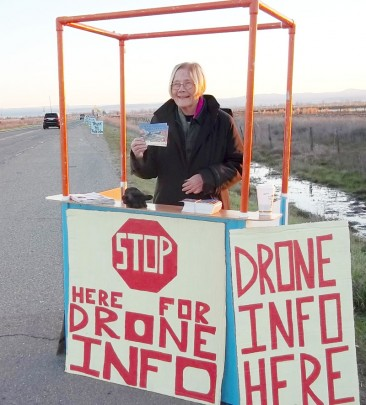 Drone Information Booth with Colonel Ann Wright