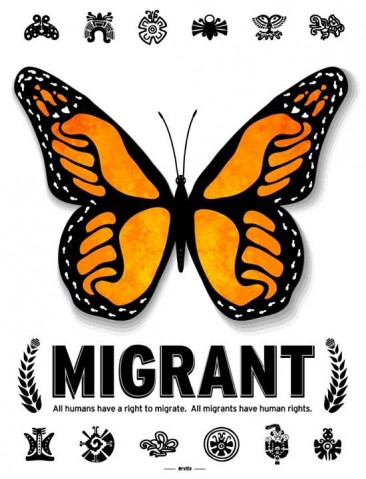 Migrant Butterfly Poster