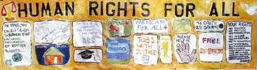 Gallery: Collaborative Human Rights Banner