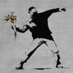 bansky-flower-brick-thrower