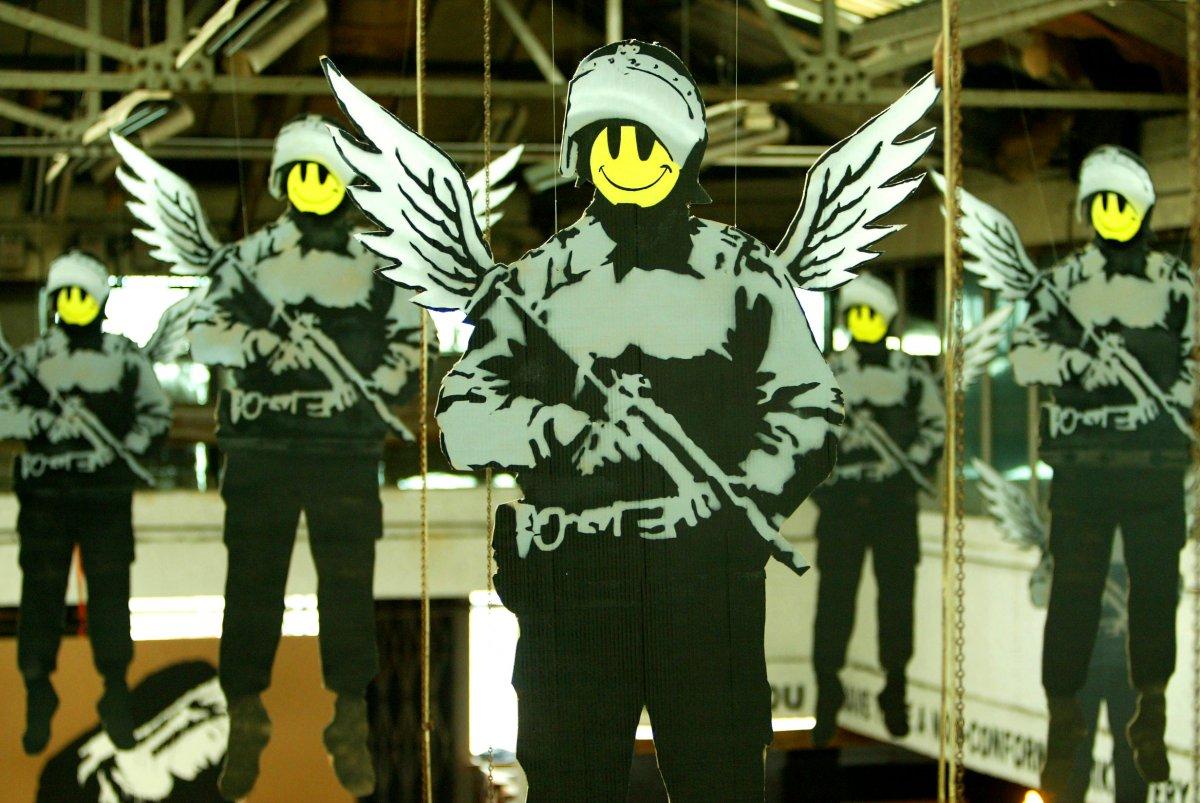 <b>Banksy</b> Collage 1Bw <b>Banksy Wallpaper</b> Murals A number of Sizes ...