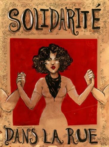 Solidarité Dans La Rue