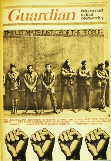 Black Panthers on the Cover of the Guardian, 1969