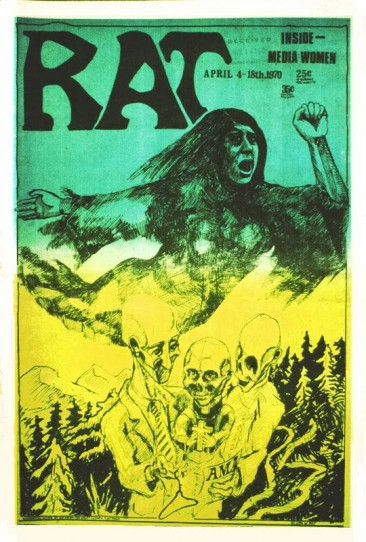 Reproductive Rights, Cover of RAT Mag, 1970