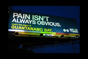 Corrected Billboard Defends Transparency at Guantanamo Bay