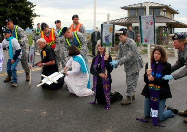 Gallery: Ash Wed Service and Civil Disobedience at Beale AFB