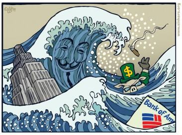 """Black Monday"" Tsunami Reaches Bank Of America"