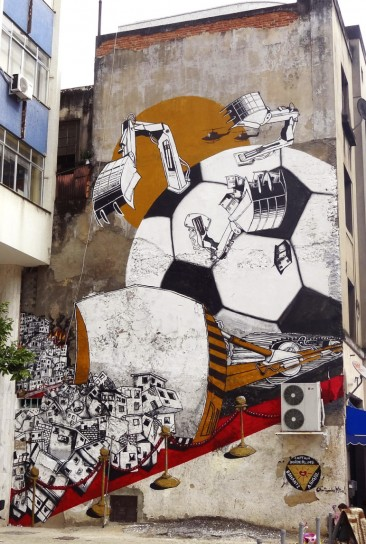 Brazil World Cup Destruction Mural