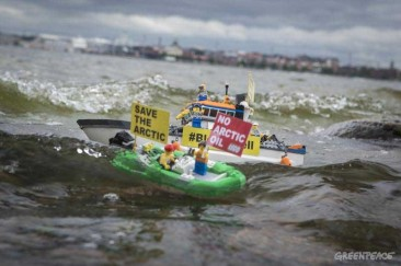 Gallery: LEGO Figures Protest Against Shell Around The World