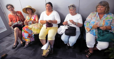 'Knit-In' Protest Against Pipeline