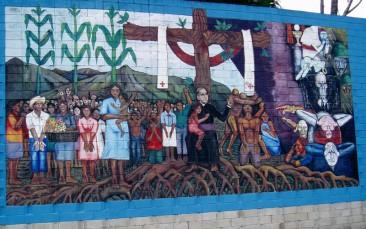 Oscar Romero mural, San Salvador