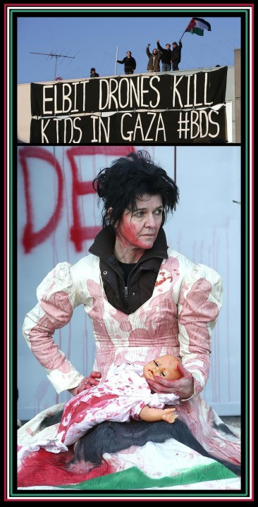 Elbit Drones Kill Kids In Gaza #BDS