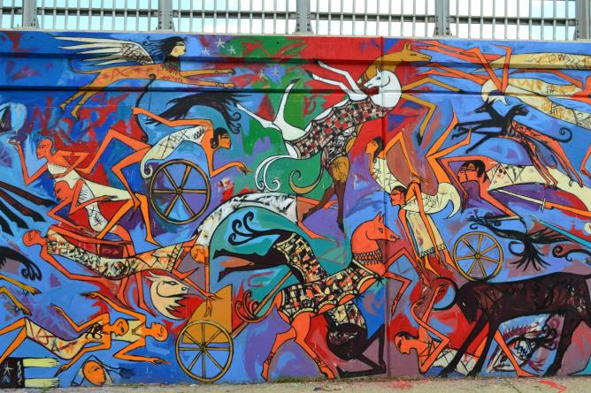 Alaa awad alchetron the free social encyclopedia for Egyptian mural paintings