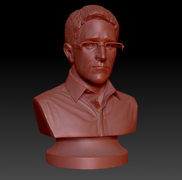 3-D Print Snowden