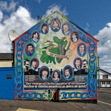 Hunger Strikers mural. Bogside, Derry