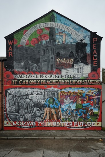 Peace Can Not Be Kept By Force Mural – Ballymacarrett, East Belfast