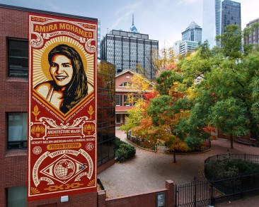 "Shepard Fairey in Philly for Mural Arts' ""Open Source"""