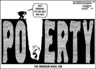 Poverty, the minimum wage job