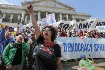Hundreds arrested at Capitol protest on voting and campaign finance