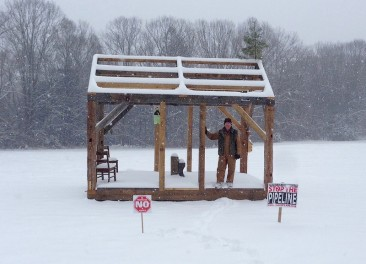 Protesters are Rebuilding Thoreau's Cabin to Block a Gas Pipeline
