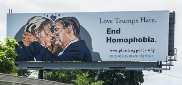 Giant Billboard Outside the Republican Convention