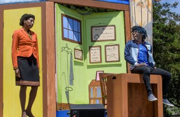 Fighting for the Soul of the Republic, in the S.F. Mime Troupe's Schooled