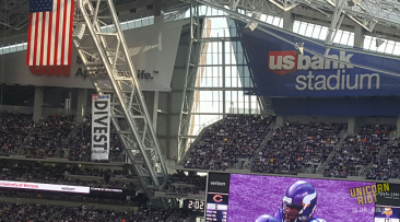 Banner Unfurled During Vikings Game