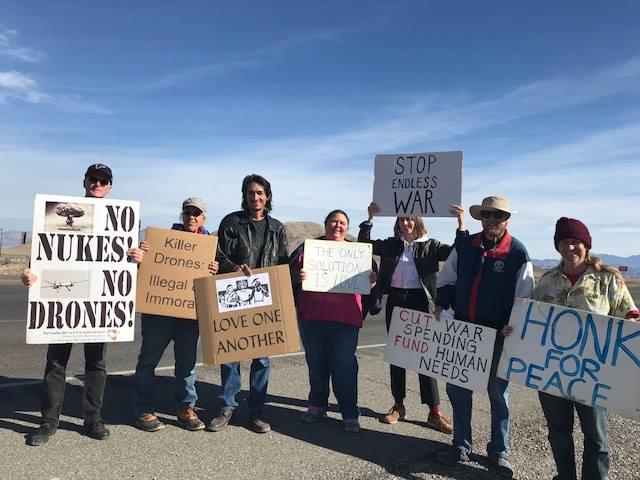 Peace Vigil At Creech AFB