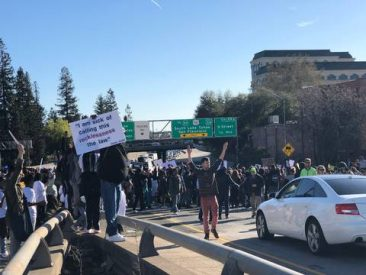 Interstate 5 Blocked By Protest